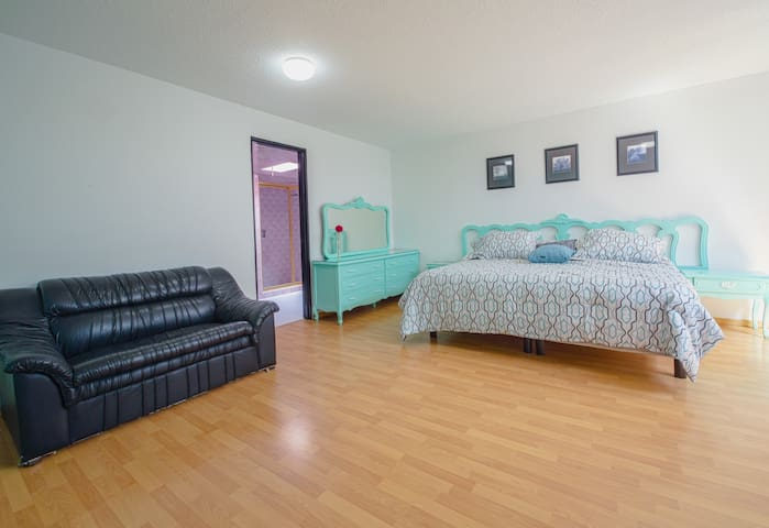Cholula Rooms - Aqua Room - King Size (front view)