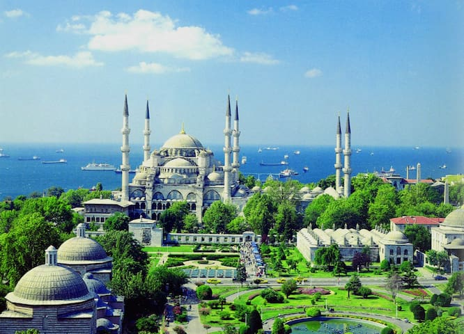 blue mosque is in a few minutes walk