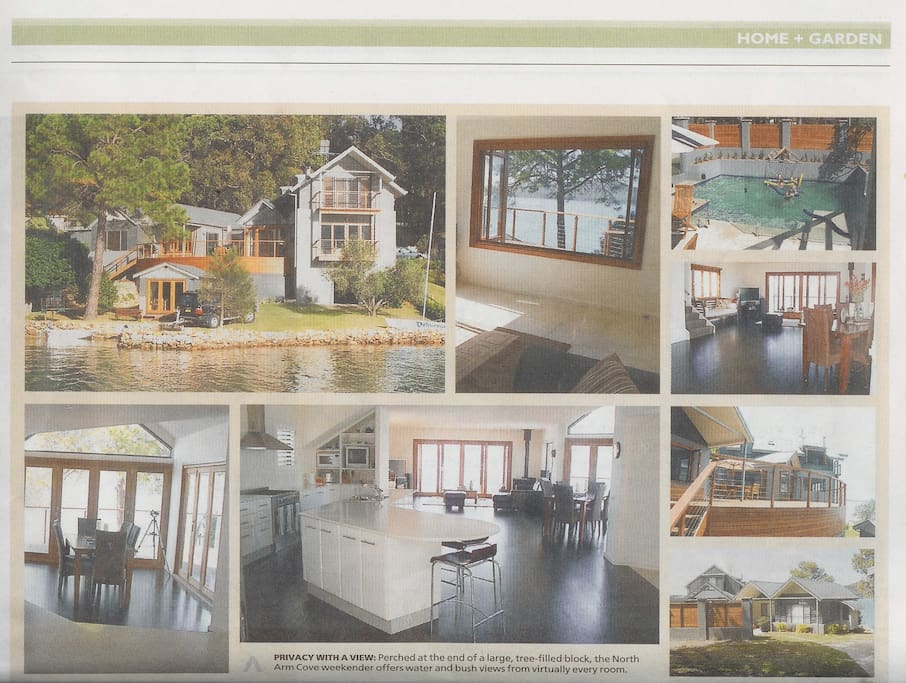 'Castle Point' was featured in a national newspaper's Home and Garden supplement.