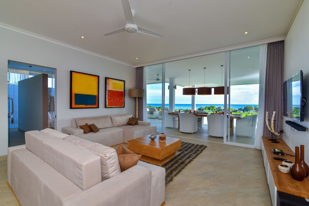 Living room with stunning views
