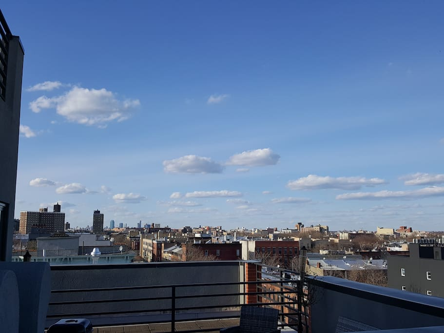 View from private roof deck