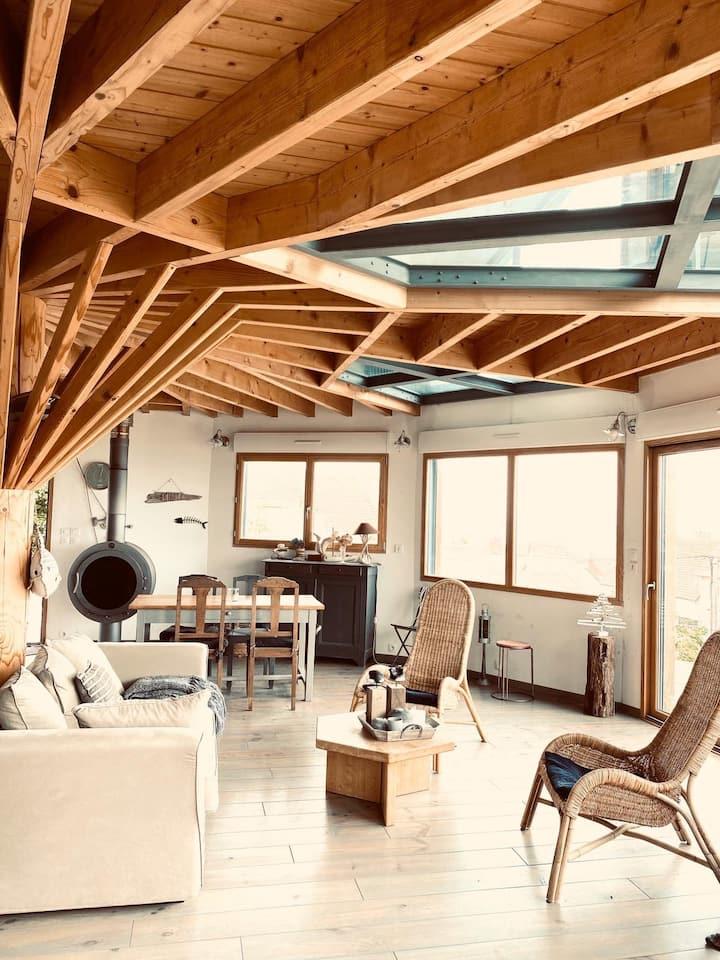 Superbe maison design en bois vue Mer