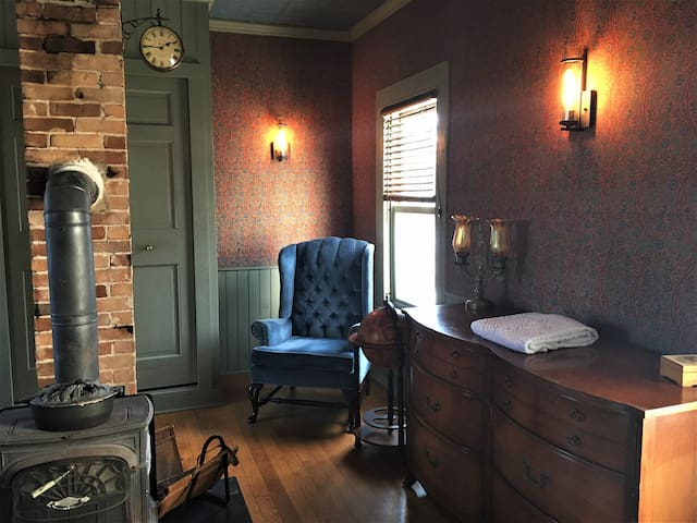 Steampunk Study in Downtown Easthampton Farmhouse