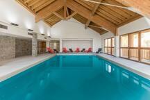 Have fun splashing around the indoor pool on-site!