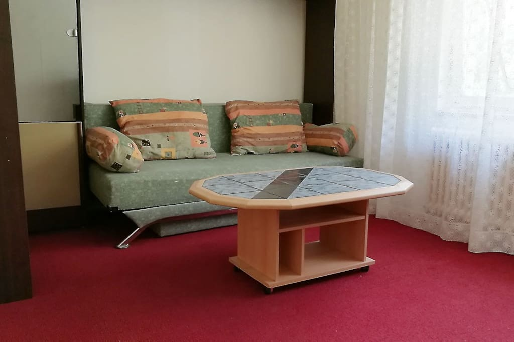 A couch in living room