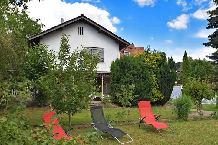 Lovely holiday home in Knüllgebirge with swimming pool and garden