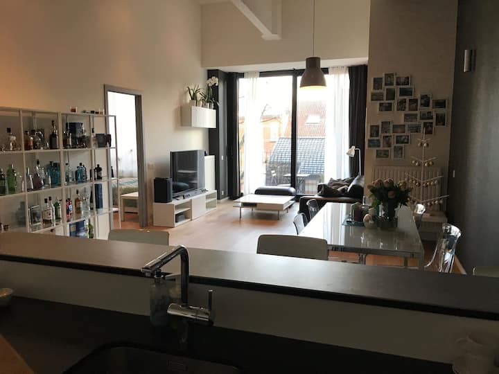 Superb 85 m² loft in Brussels, secured building