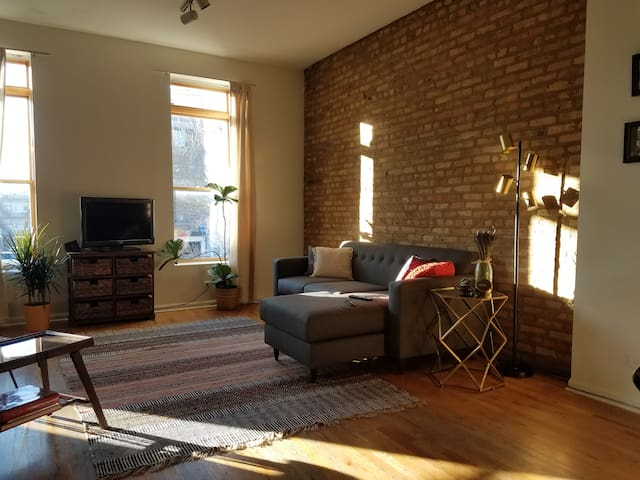 Spacious Loft w Exposed Brick in Central Location