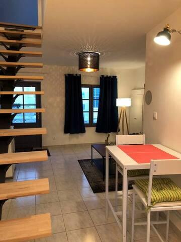 Le petit nid du bourg, duplex36m2 (proche Amboise)
