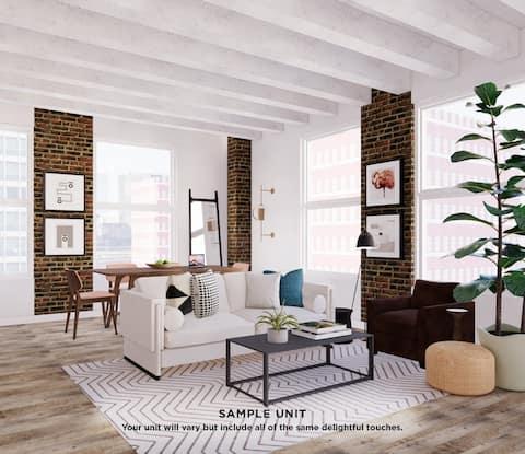 Domio Gaslamp | Elegant Studio Suite | Club Room + Gym + Laundry