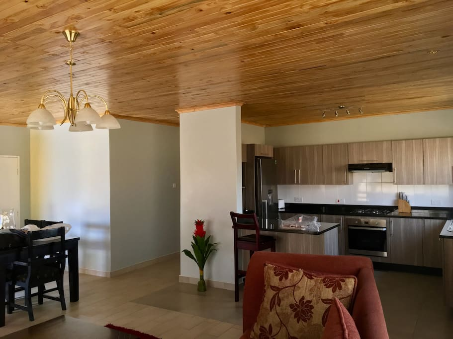 Open plan, modern new house fully furnished