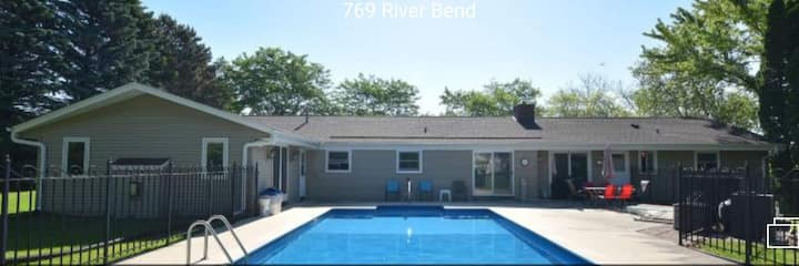 Large comfortable home with heated in-ground pool.