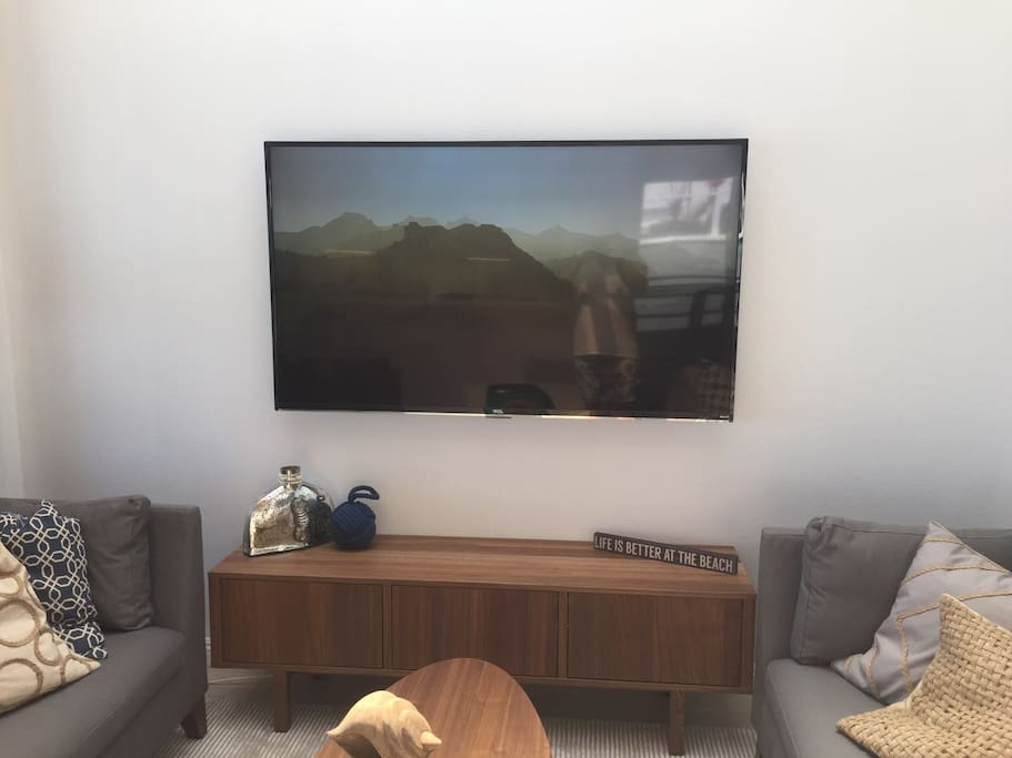 "65"" TV with full channels and Netflix!!"