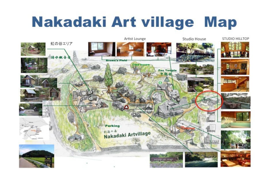 Map of Nakadaki