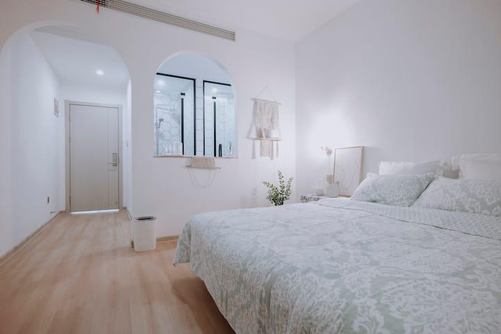 江畔民宿-梨泰 韩式清新 温馨可爱大床房