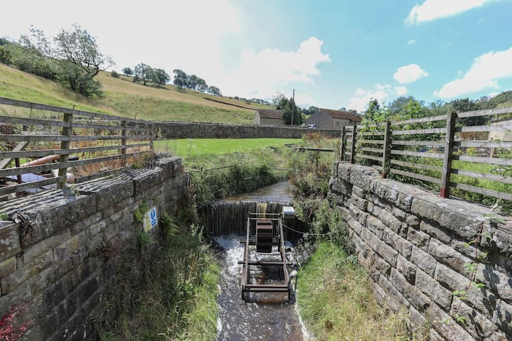 feature of the beck providing some power for Wend Gardens