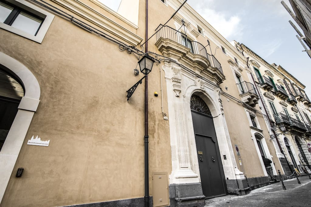 La facciata di Residenza Cavour