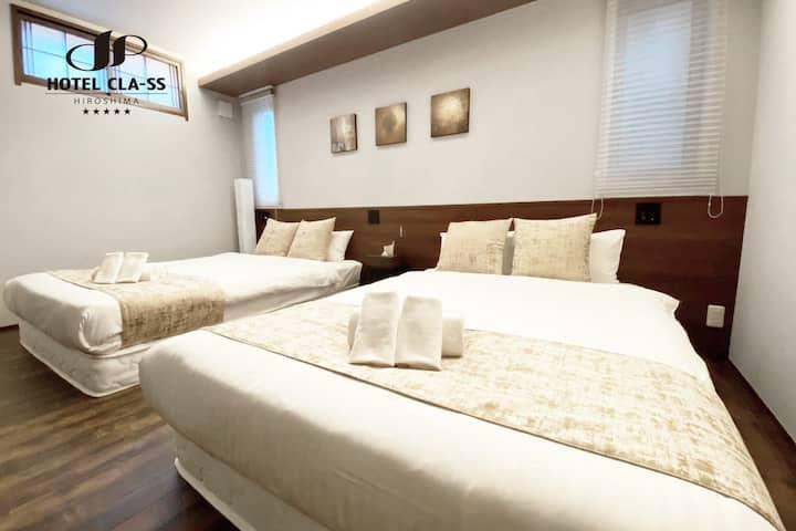 CL12 1室型房源,設有兩張雙人床,適於2-4名旅客。備有炊具、餐具!近便利店。Wifi免費!