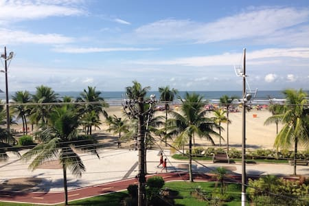 Apartamento de frente para o mar na Guilhermina-PG - Praia Grande - 公寓