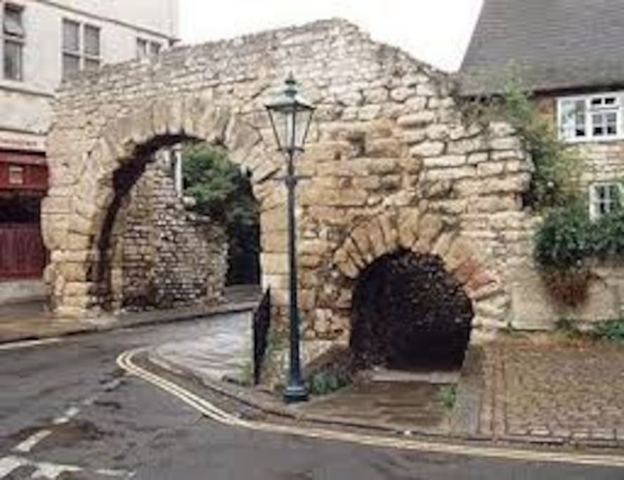 Just round the corner from the Roman Newport Arch