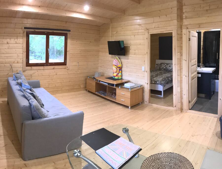 Relax, unwind and dream about how you want your life to be in our beautiful Nordic Pine Cabin