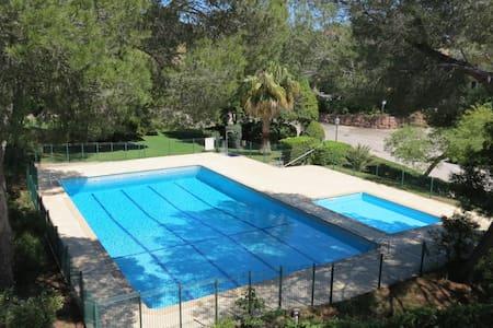 4 pers/St Raphaël /300m plage/piscine/clim/Parking