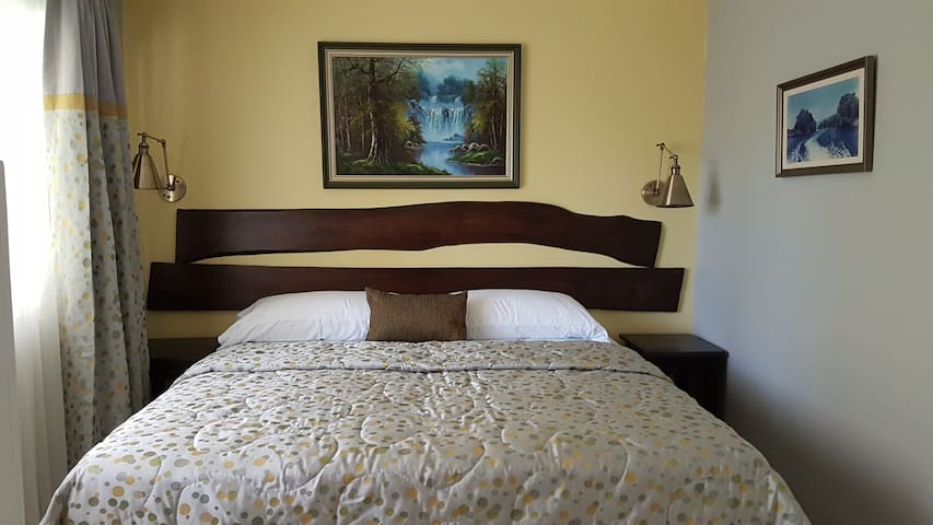 Bedroom (One King bed or two single beds)
