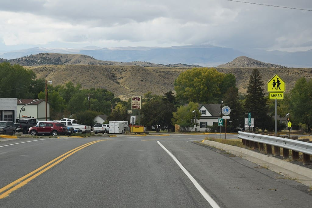 Coming into Meeteetse from Thermopolis
