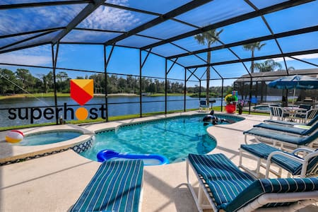 The Lake House. 7Br 4.5ba with private pool! - Kissimmee - House