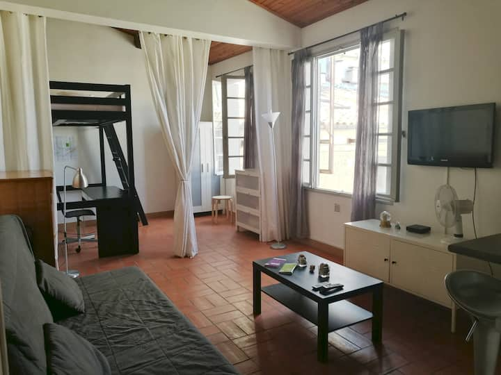 Charming big studio in the heart of the center.