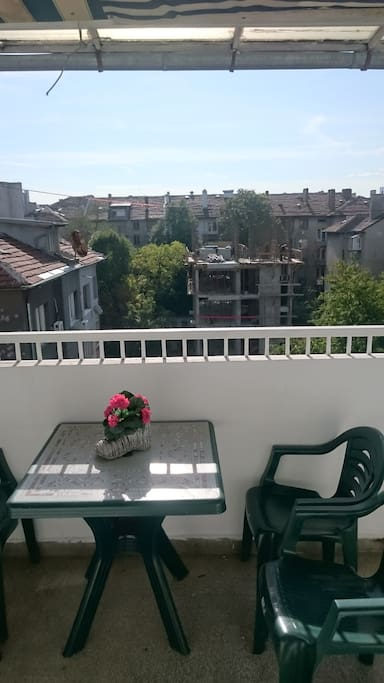 Very sunny and large terrace with a beautiful view