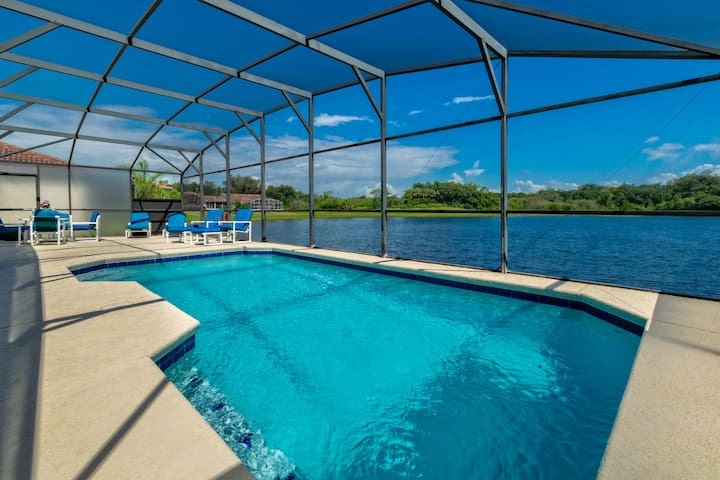 LUXURY 5BED 3BATH|PRIVATE POOL HOME|LAKE VIEW