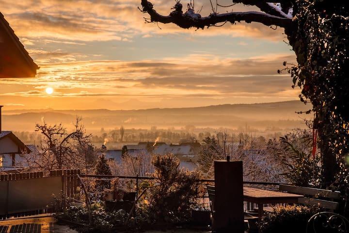 View from the terrasse - Sicht von der Terrasse