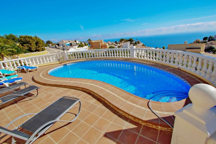 Jean - sea view villa with private pool in Benitachel