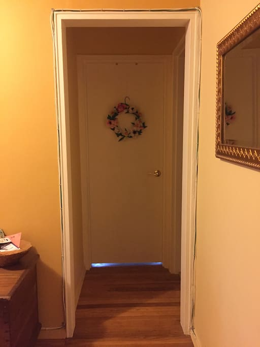 Entryway to your room