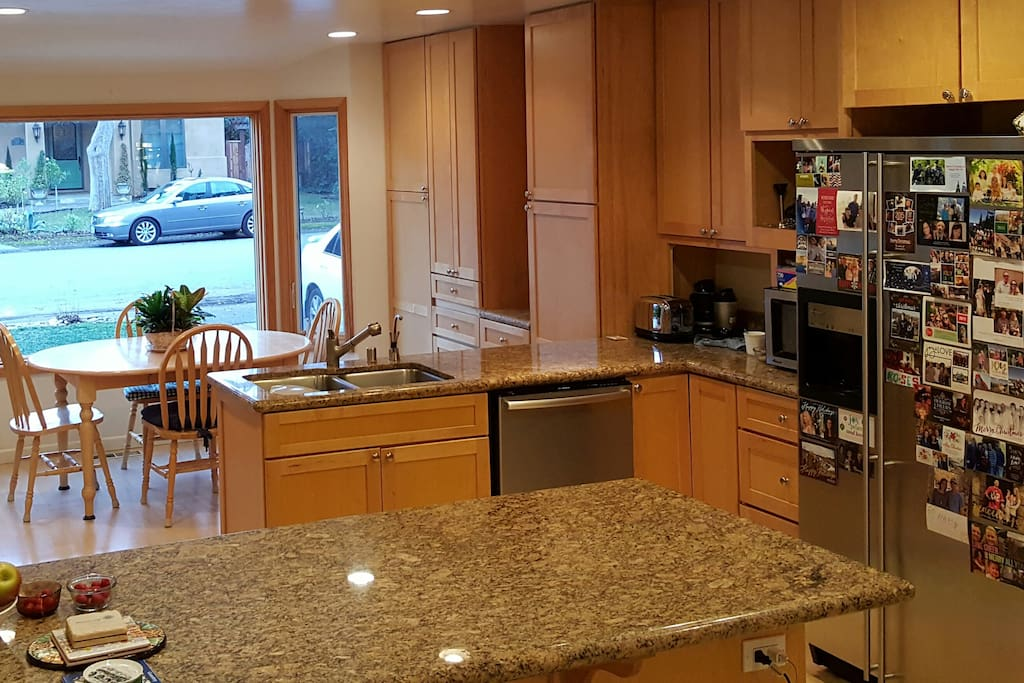 Kitchen includes breakfast nook eating area