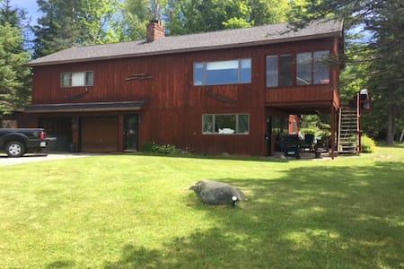 Cozy lakefront 4 seasons Adirondack home - Indian Lake