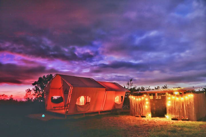 Star Gazing Tent (Taurus) on Private Ranch