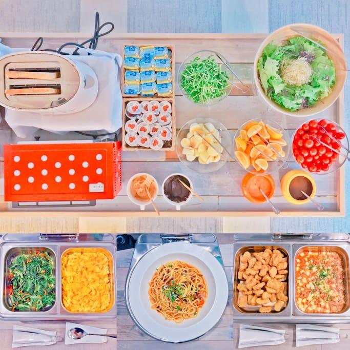 中西式自助早餐