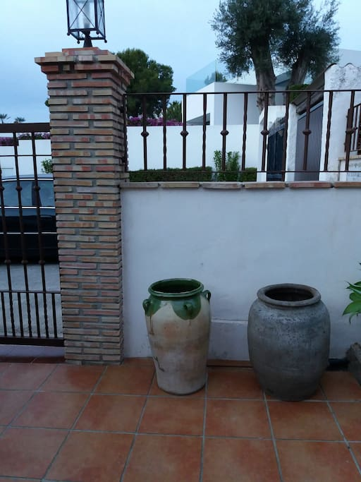Entrada a la casa.