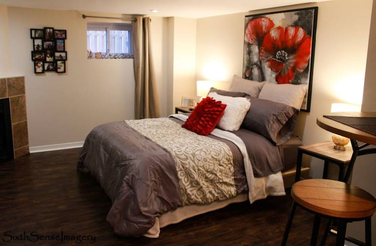 Cozy Newly Renovated Studio Basement Suite - Cornwall - Departamento