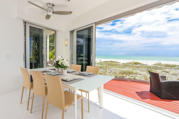 Beachfront Oasis - Elegant beach front home! Views for days, private pool, beach access!
