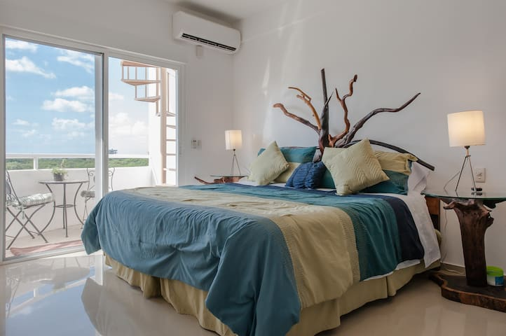 Penthouse studio w/ roof terrace & swimming pool! - Cozumel - Apartamento