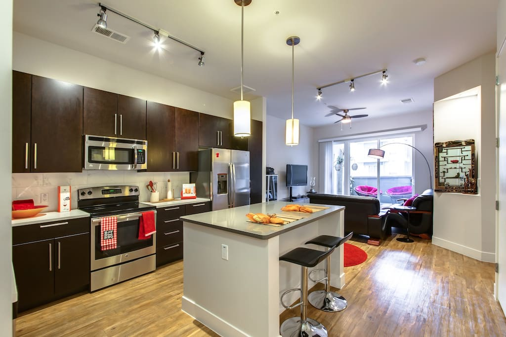 Luxury kitchen with stainless appliances