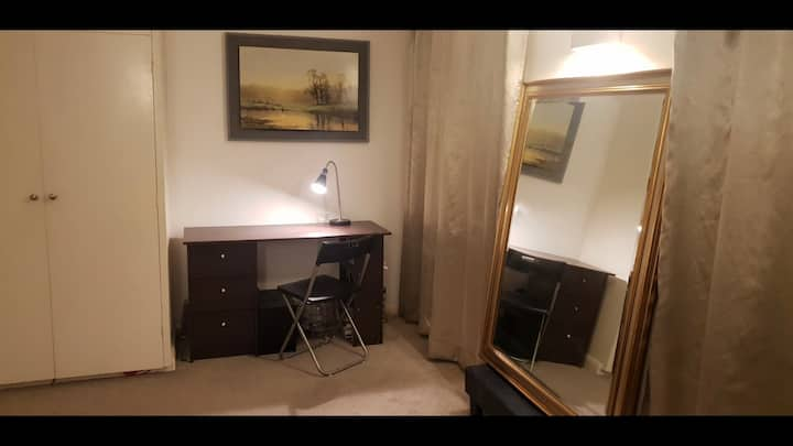 Beautiful large room with work space