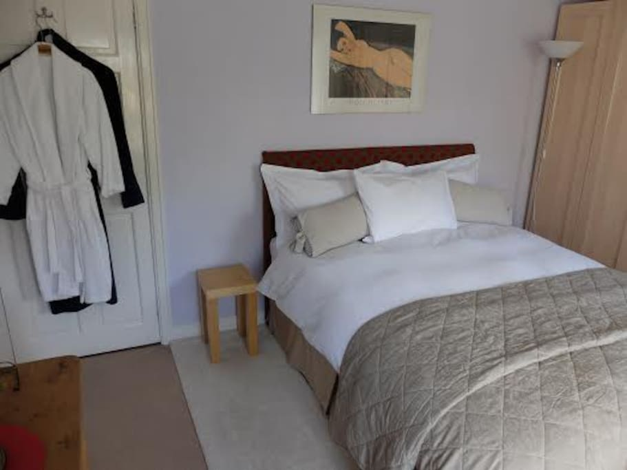 King size bedroom with your own bathrobes