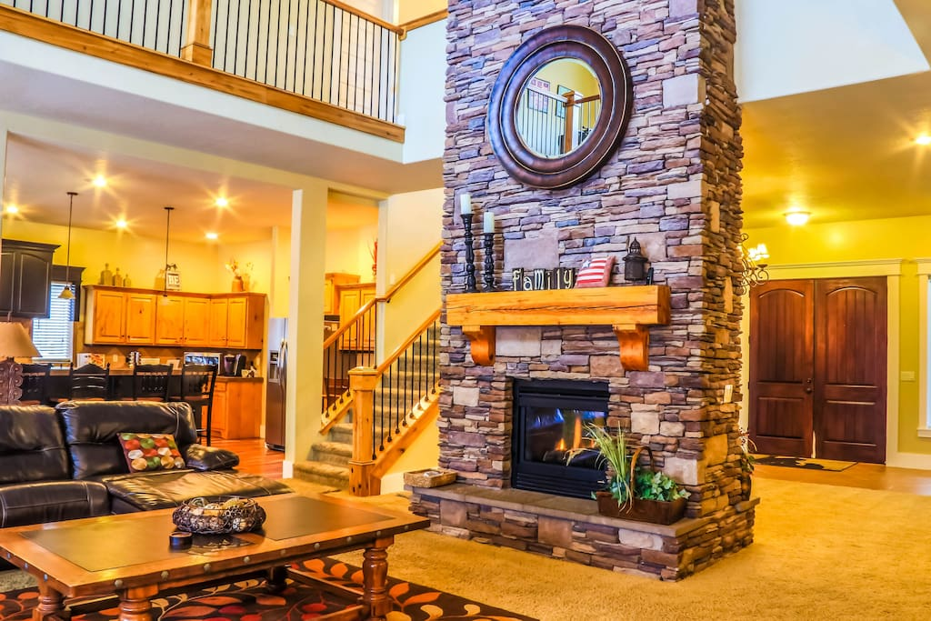 Inviting Fireplace in Living Room