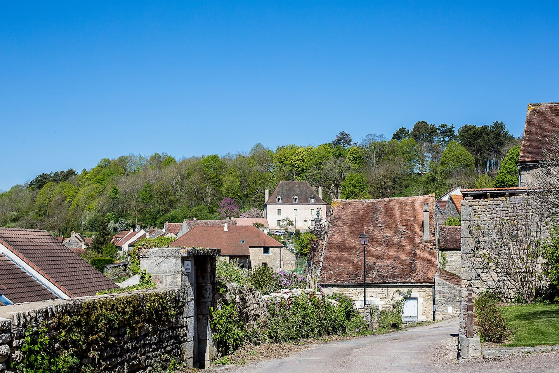 Vue générale du village d'Alise-Sainte-Reine