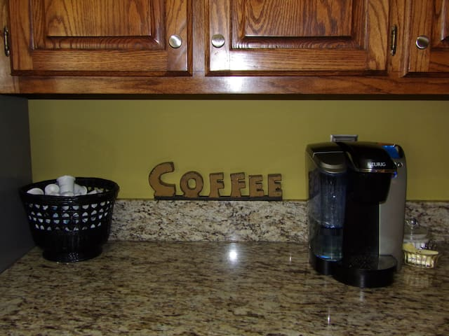 Our kitchen is open to you, coffee when you want!