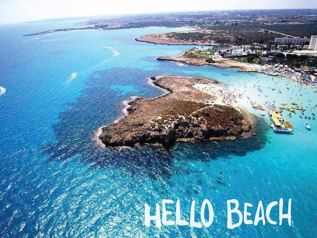 Walk on the 6thbest beach in Europe - Protaras - Apartamento